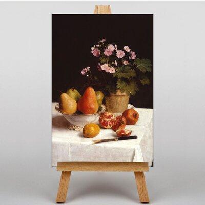 Big Box Art Primroses and Fruit by Henri Fantin-Latour Art Print on Canvas