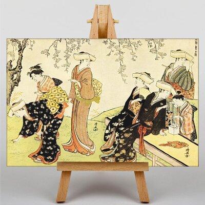 Big Box Art Japanese Oriental No.4 by Torii Kiyonaga Art Print on Canvas