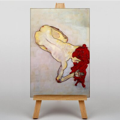 Big Box Art Wire and Paint Study by Egon Schiele Art Print on Canvas