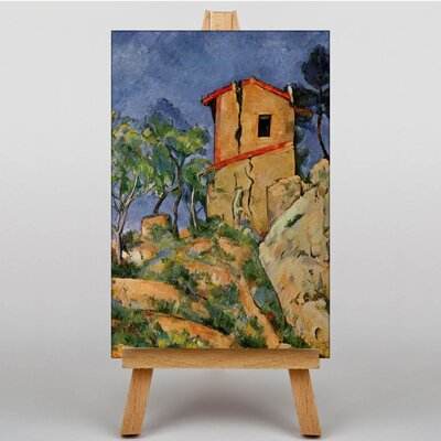 Big Box Art The House with Cracked Walls by Paul Cezanne Art Print on Canvas