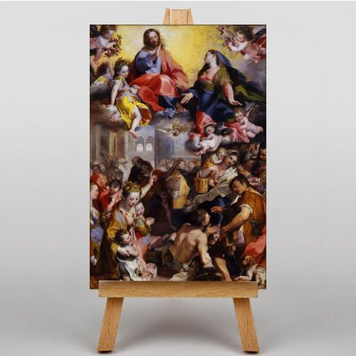 Big Box Art Madonna of People by Federico Barocci Art Print on Canvas