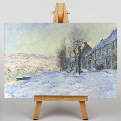Big Box Art Lavacourt, Sunshine and Snow by Claude Monet Art Print on Canvas