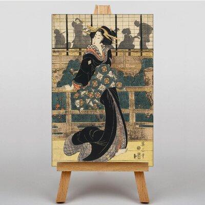 Big Box Art Japanese Oriental No.1 by Eizan Kikukawa Art Print on Canvas