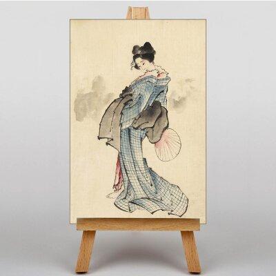 Big Box Art Woman Full Length by Katsushika Hokusai Art Print on Canvas