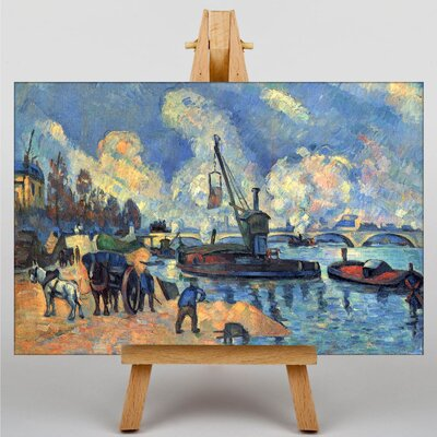 Big Box Art The Seine at Bercy by Paul Cezanne Art Print on Canvas