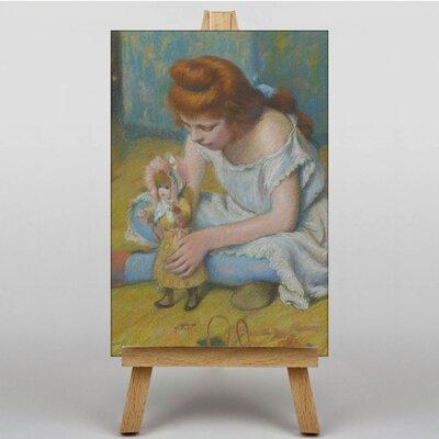 Big Box Art Playing with her Doll by Federico Zandomeneghi Art Print on Canvas
