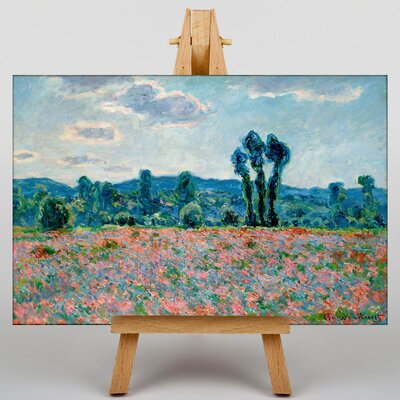 Big Box Art Poppy Field in Giverny by Claude Monet Art Print on Canvas