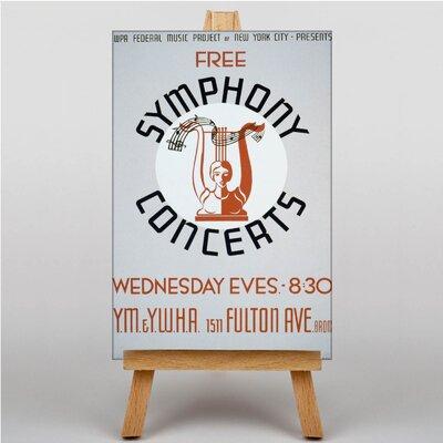Big Box Art Symphony Concerts Vintage Advertisement on Canvas