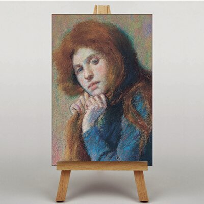 Big Box Art Portrait of a Woman No.2 by Federico Zandomeneghi Art Print on Canvas