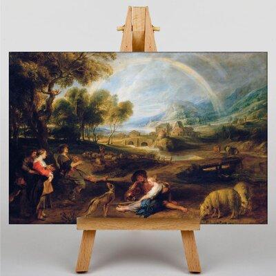 Big Box Art Landscape with a Rainbow by Peter Paul Rubens Art Print on Canvas
