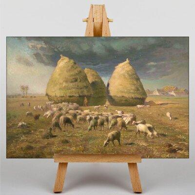 Big Box Art Haystacks by Jean-Francois Millet Art Print on Canvas