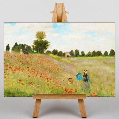 Big Box Art Poppy Field by Claude Monet Art Print on Canvas