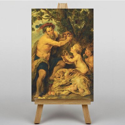 Big Box Art Man with a Tiger by Peter Paul Rubens Art Print on Canvas