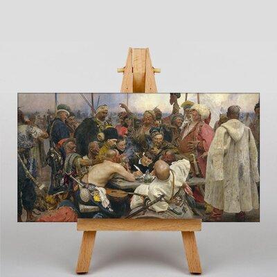 Big Box Art Drafting a Manifesto by Ilya Repin Art Print on Canvas