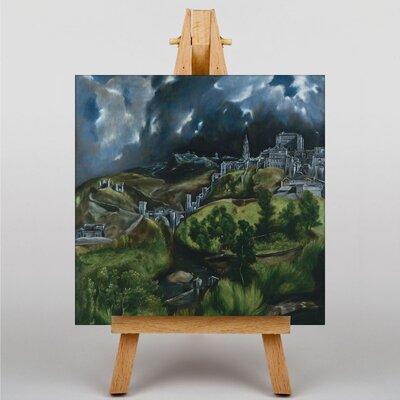 Big Box Art View of Toledo by El Greco Art Print on Canvas