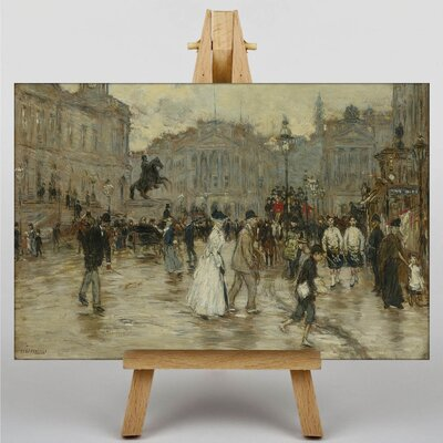 Big Box Art Landscape with People No.1 by Jean-Francois Raffaelli Art Print on Canvas