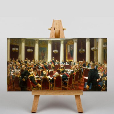 Big Box Art The State Council Sitting by Ilya Repin Art Print on Canvas