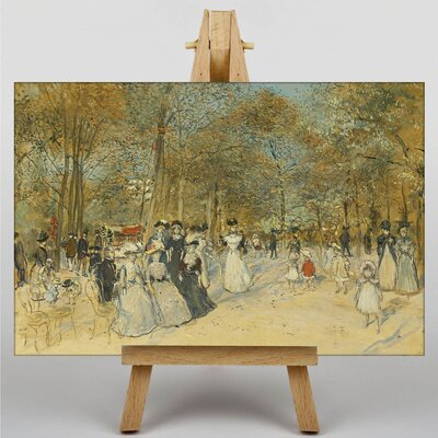 Big Box Art Landscape with People No.2 by Jean-Francois Raffaelli Art Print on Canvas