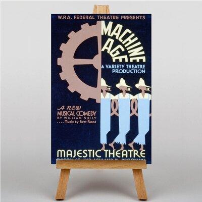 Big Box Art Machine Age Vintage Advertisement on Canvas