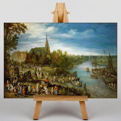 Big Box Art The Elder Parish Fair in Schell by Pieter Bruegel Art Print on Canvas