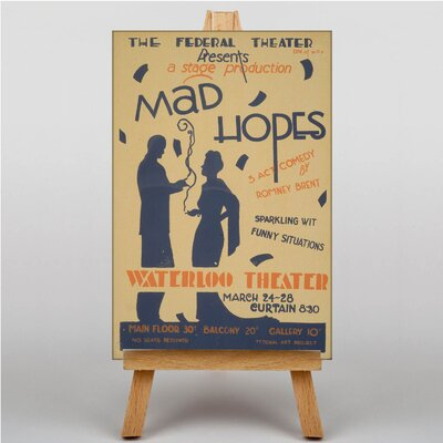 Big Box Art Mad Hopes Vintage Advertisement on Canvas
