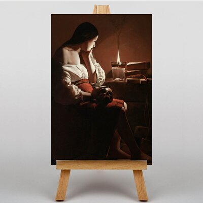 Big Box Art The Magdalen with the Smoking Flame by Georges De Latour Art Print on Canvas