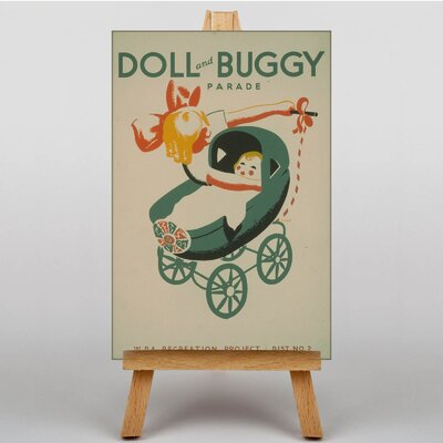 Big Box Art Doll and Buggy Vintage Advertisement on Canvas