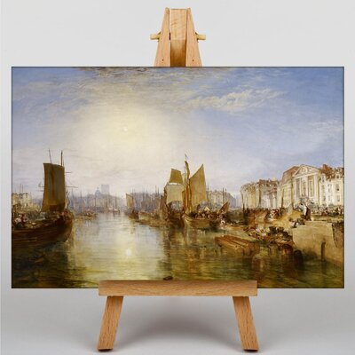 Big Box Art The Harbor of Dieppe by Joseph Mallord William Turner Art Print on Canvas
