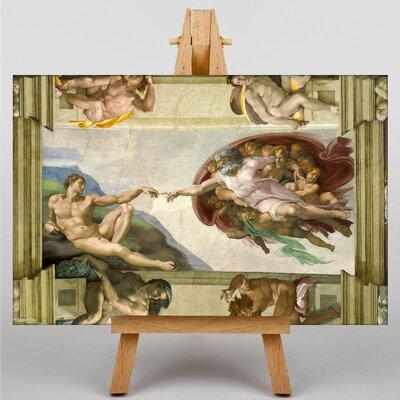 Big Box Art Creation of Adam by Michelangelo Art Print on Canvas