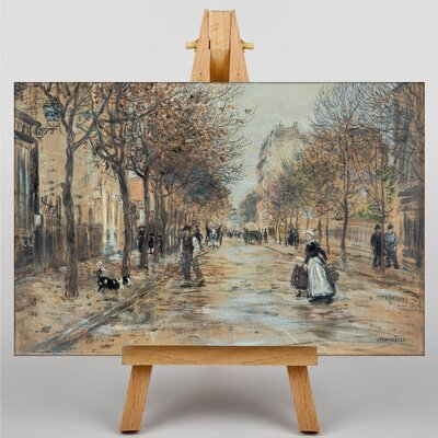 Big Box Art Street in Asniecres by Jean-Francois Raffaelli Art Print on Canvas