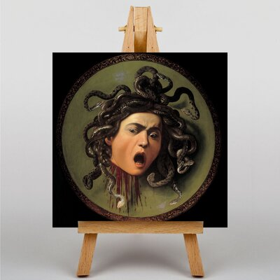 Big Box Art Caravaggio The Head of Medusa by Michelangelo Art Print on Canvas