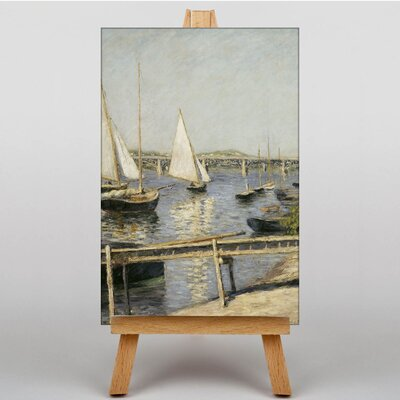 Big Box Art Sailing Boats at Argenteuil by Gustave Caillebotte Art Print on Canvas