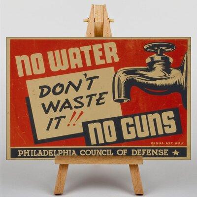 Big Box Art Don't Waste Water Vintage Advertisement on Canvas