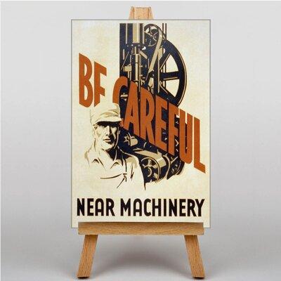 Big Box Art Be Careful Vintage Advertisementon on Canvas