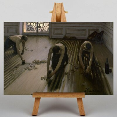 Big Box Art The Floor Planers by Gustave Caillebotte Art Print on Canvas