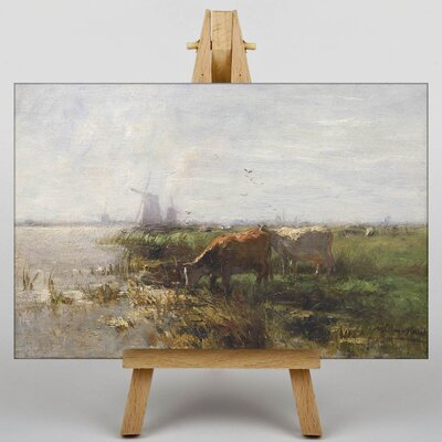 Big Box Art Cows by Water No.2 by Willem Maris Art Print on Canvas