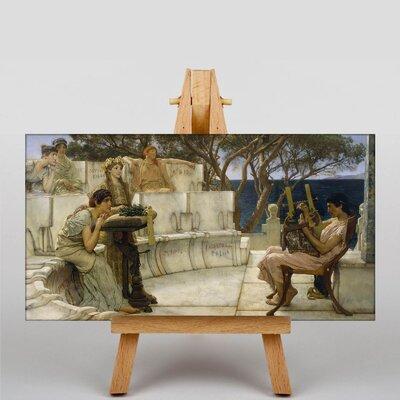Big Box Art Sappho and Alcaeus by Lawrence Alma-Tadema Art Print on Canvas
