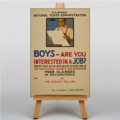 Big Box Art Boys Interested in a Job Vintage Advertisement on Canvas