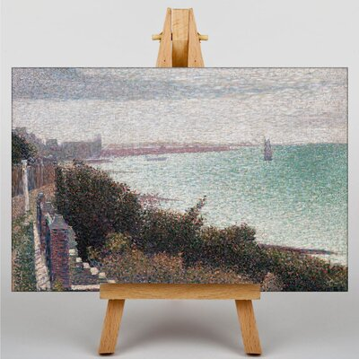 Big Box Art Coast Scene by Georges-Pierre Seurat Art Print on Canvas