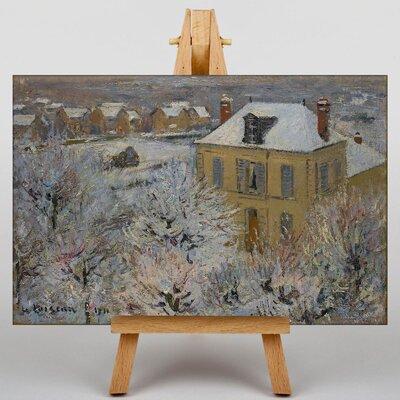 Big Box Art Gustave Loiseau Snowy Landscape by Gustave Caillebotte Art Print on Canvas