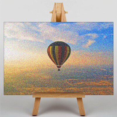 Big Box Art Hot Air Balloon Ride by Georges-Pierre Seurat Art Print on Canvas