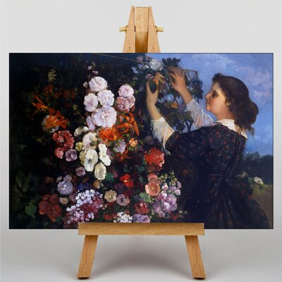 Big Box Art Gustave Courbet Flower Trellis by Gustave Caillebotte Art Print on Canvas