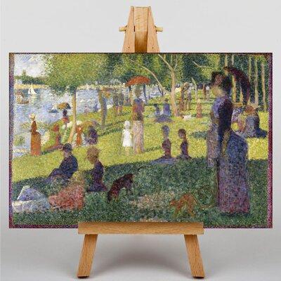 Big Box Art Sunday on La Grande Jatte by Georges-Pierre Seurat Art Print on Canvas