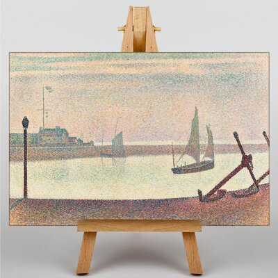 Big Box Art The Channel at Graveline by Georges-Pierre Seurat Art Print on Canvas