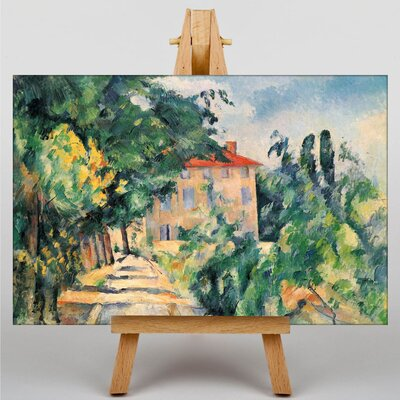 Big Box Art House with Red Roof by Paul Cezanne Art Print on Canvas