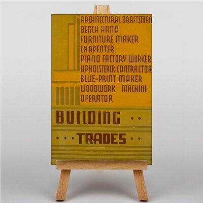 Big Box Art Building Trades Vintage Advertisement on Canvas