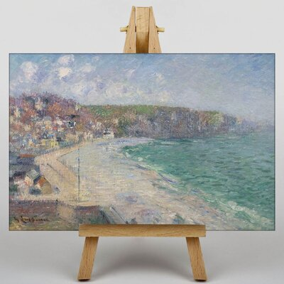 Big Box Art Gustave Loiseau Beach and Cliffs by Gustave Caillebotte Art Print on Canvas