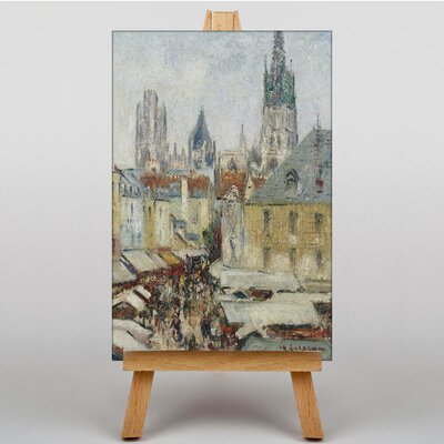 Big Box Art Street in Rouen by Gustave Loiseau Art Print on Canvas