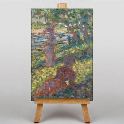Big Box Art Woman in the Park by Georges-Pierre Seurat Art Print on Canvas