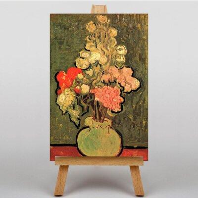 Big Box Art Still Life with Rose Mallows by Vincent Van Gogh Art Print on Canvas